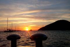 Sole che tramonta